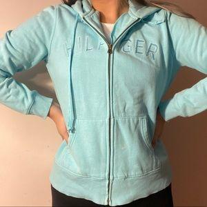 3/$10✨ tommy hilfiger blue drawstring sweater